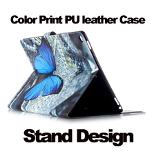 "Fashion Color Print Stand Leather case for Ipad Pro,New Style Flip Cover Case for Ipad Pro 12.9"" Sleep Case"