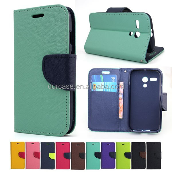 Fancy Dual Colour Flip Case Cover For LG T375 with TPU inside holder stander function