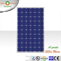 Sunshine 255w Mono A Grade Quality Solar Panel Solar Module for Off-grid/Grid-tied Roof-top Solar Power System