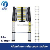 Aluminum telescopic ladder 3.8m