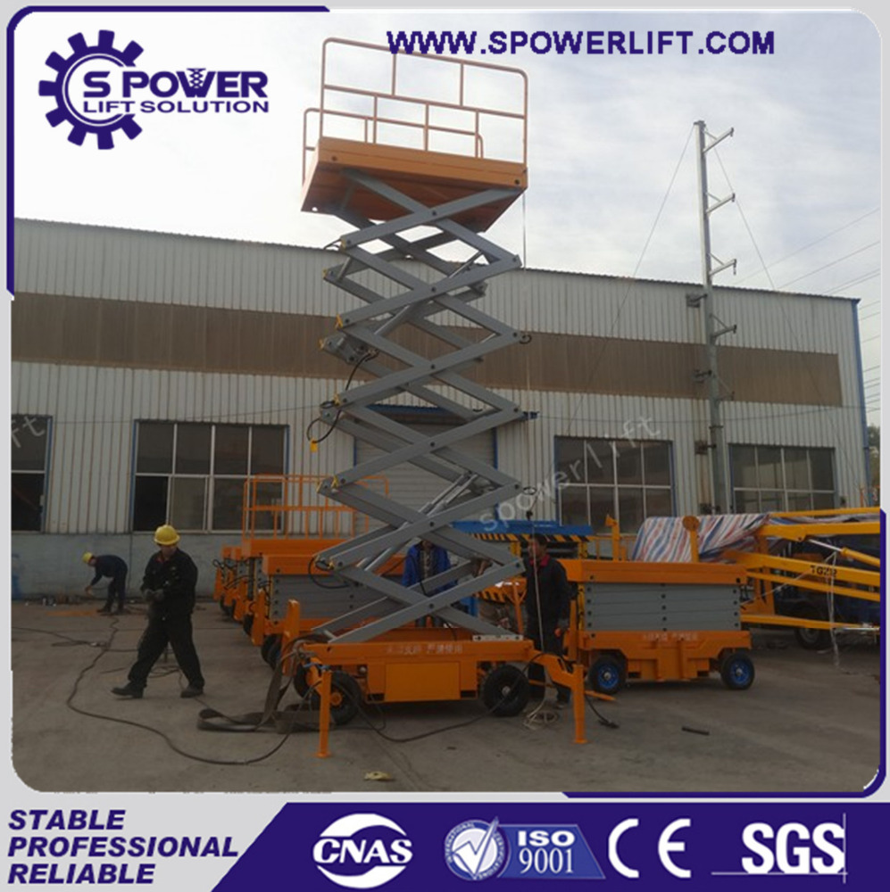 Manufacturer supply mobile electric high lifting scissor platform truck