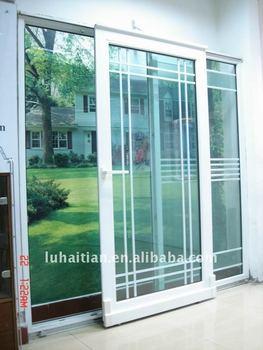Upvc four panel sliding door with fly screen buy upvc for Upvc sliding glass doors