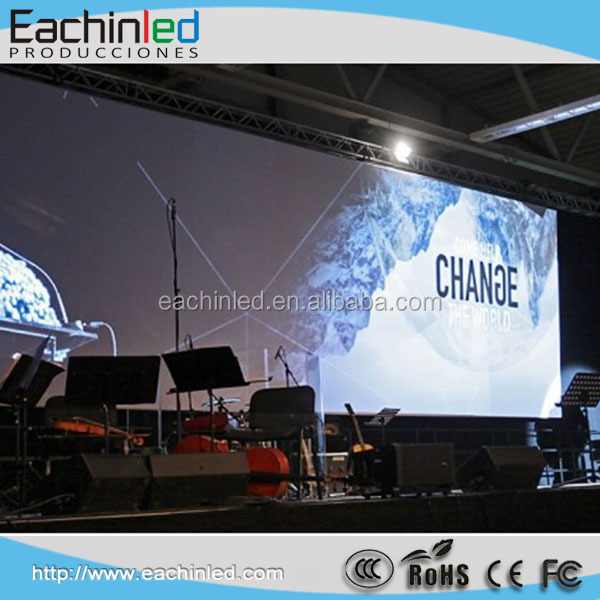P3.9 P4 die-casting aluminum front service led display and Super slim cabinet indoor rental led display panel