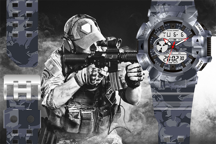 army military watch camouflage digital cool sport watches for teenagers