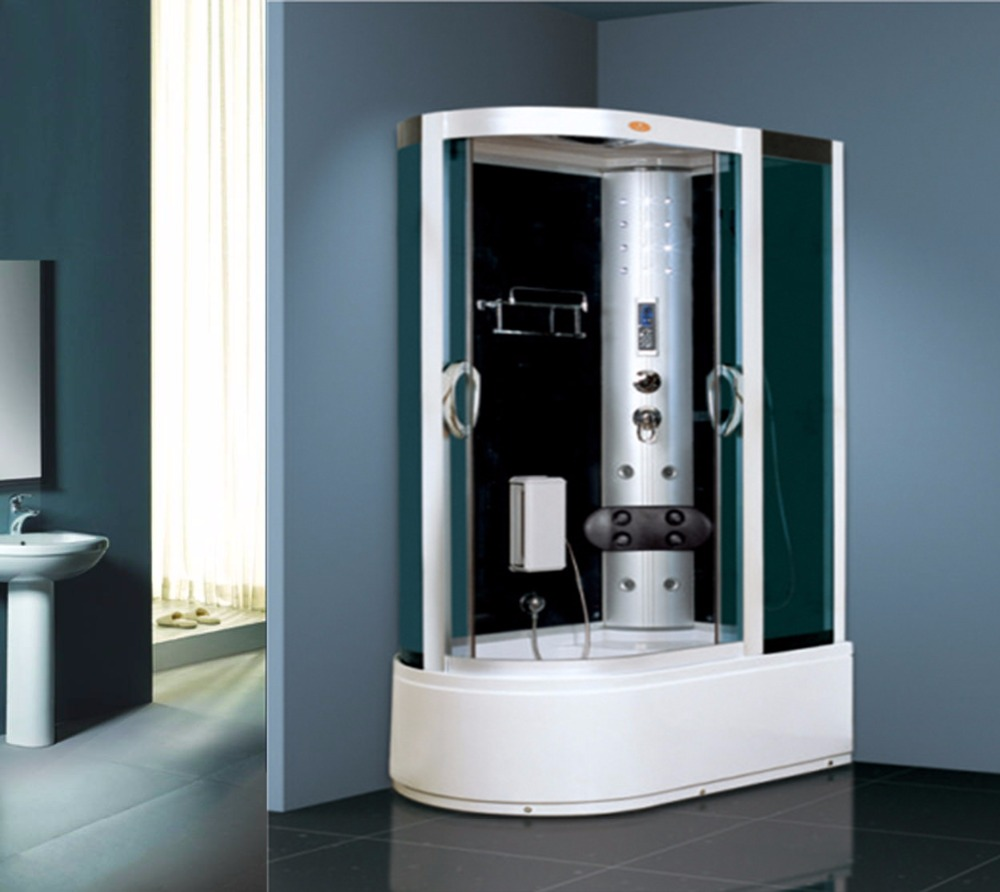 Luxury shower steam room portable steam room with spa tub computer controlled steam