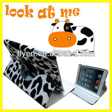 Mulk Cow Style 360 Degree Rotary Leather Case for iPad mini Magnetic Stand Smart Cover 2013 Hot Selling