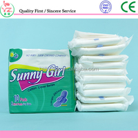 China Wholesale Comfortable Ladies Made in China Sanitary Napkin sunny gir Maternity Pad with Dry Cotton Cover & Absorbent Paper
