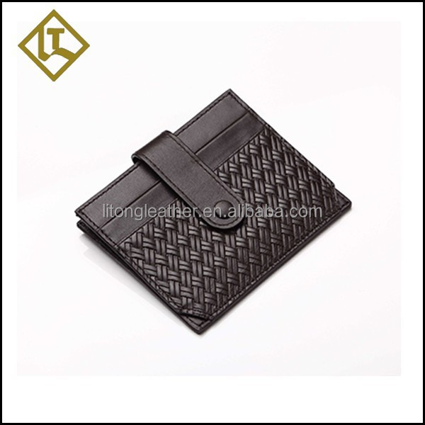 2016 New arrived High Quality Luxury Knitted Genuine Leather rfid Card Holder Credit Bank Card holder