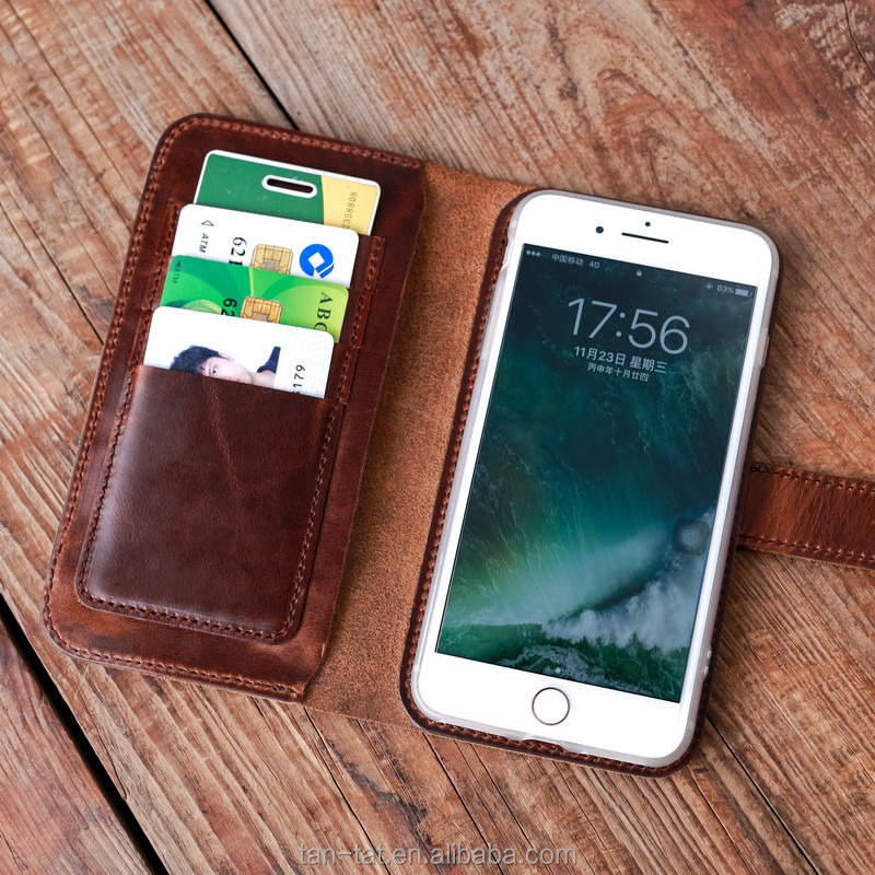 Brown Genuine Leather Phone Cover Smartphone Case