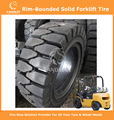 Rim-Bounded Solid Tyres Forklift Tyres 28x9-15/7.0