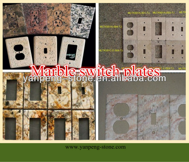 natural marble stone switch plates