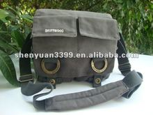 Weatherproof Canvas Shoulder Bag for Photo and Video Cameras