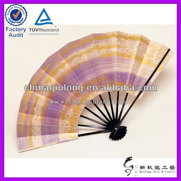The high quality silk crafts hand fans bamboo silk hand fan