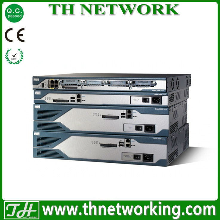 Genuine Cisco 2800 Router C2821-25UC-VSEC/K9 2821 w/PVDM2-32,AIM2-CUE,25 CME/CUE/Ph lic,Adv IP,128F/512D