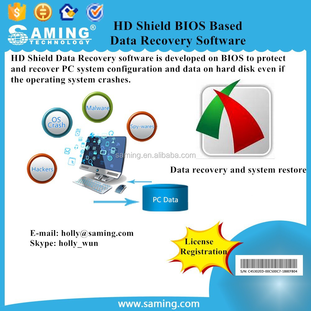 HD Shield BIOS Based Data Recovery Software/ Best solution to guard enterprise and home user's PC