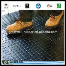 Good Quality Stud Anti-slip Round Button Rubber Sheet Or Matting With Various Pattern in 1.5g/cm3 with ISO9001:2000