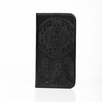 Factory price Luxury embossing Flip case pu leather phone case for iphone 6s