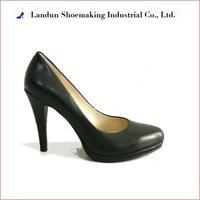 20161118 genuine leather fashion dress black official ladies shoes