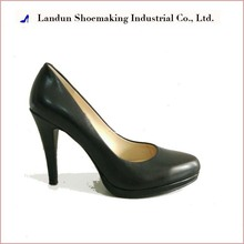 20161118 genuine leather fashion dress black official ladies shoes