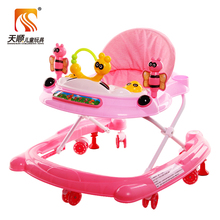 Good quality rubber wheel baby walker and old fashioned baby walker on sale