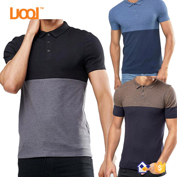 Combination Colors PoloT Shirts Custom 100% Cotton Blank Plain Slim Fit Mens Polo