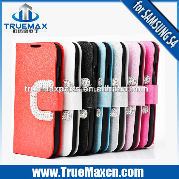 Cheap High quality Flip cover case for Samsung Galaxy S4 Wallet case