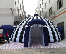 double layer zebra strip inflatable marquee tent igloo tent