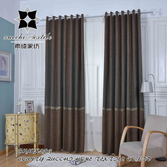 2017 Luxury Dubai Curtain Fabric Thick Curtain Material Linen Jacquard Drape