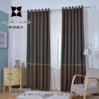 luxury 2016 new design curtain linen fabric curtain living room curtain drapes panel