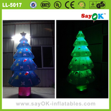 christmas inflatable bule led inflatable christmas tree indoor