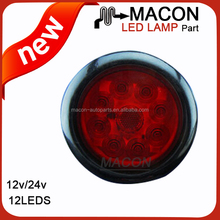 Arrival in market 4 inch round truck trailer led tail light with service