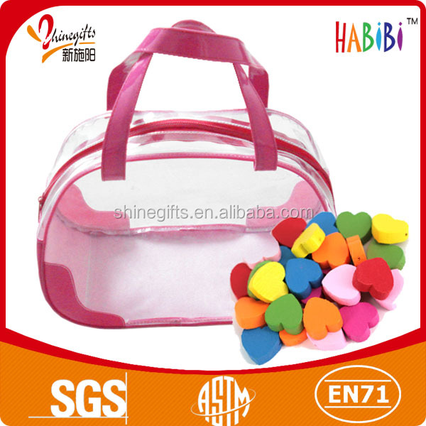 lovely plastic pvc bag with zipper for kid's toy