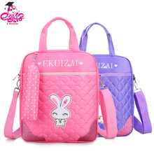 Fashion Girl lovely Pocket Tuition Book Bag 3 in 1 School Bag Series