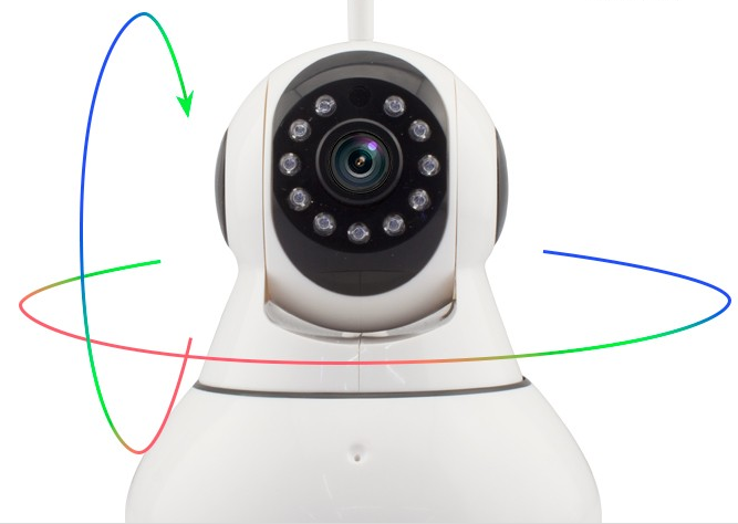Plug and play wifi ip camera ,rotating wireless ip camera outdoor wireless security camera