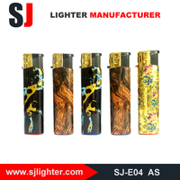 Plastic disposable gas candle lighter