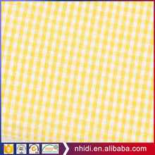 Alibaba fabric breathable blue plaid polyester cotton seersucker fabric