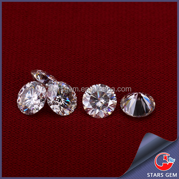 Buy moissanite from china wholesale round loose 2 carat moissanite