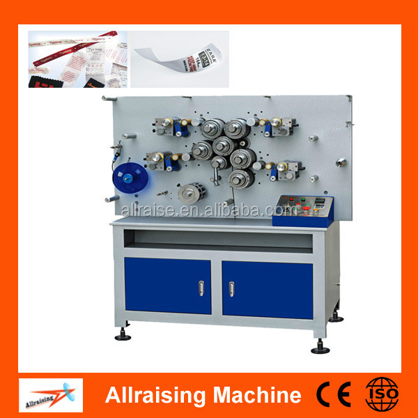 Rotaty Double Side Tape Printing Machine For Fabric, Woven, Polyester Taffeta, Satin, Textile Label