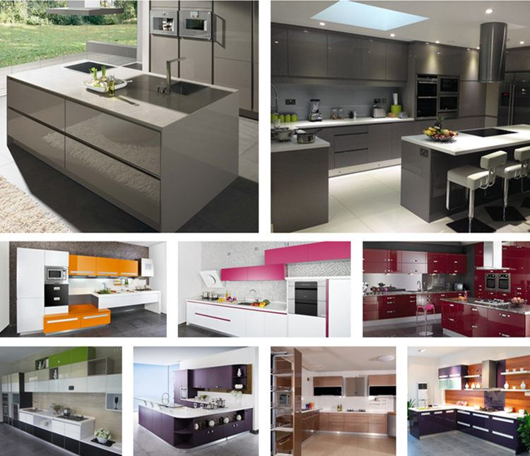 Luxury Kitchen Customized Tow Pack High Gloss Lacquer Kitchen
