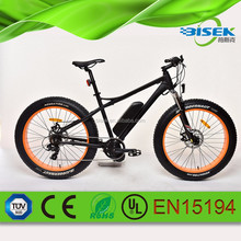 Belt drive mid motor electric fat bike with 350w torque system