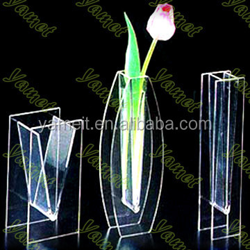 Simple and generous Acrylic glass vase for florist best price OEM ODM