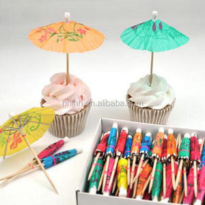 Party table decoration custom drink umbrellas picks