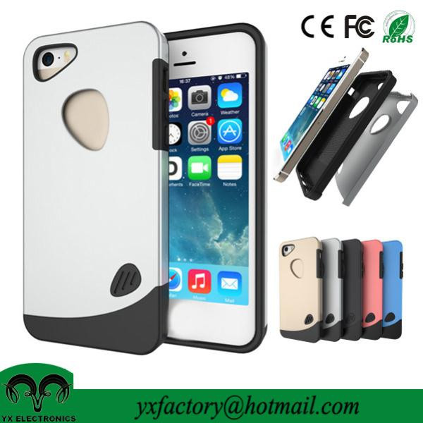 new and unique products 2 in 1 pc tpu rock case for iphone 5