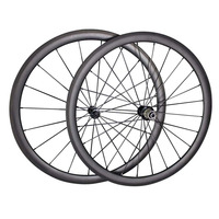 Toray T700 full carbon 38mm carbon wheels 700c clincher road bike