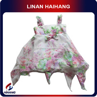 Hangzhou best manufacturer oem Floral beautiful children chiffon dress