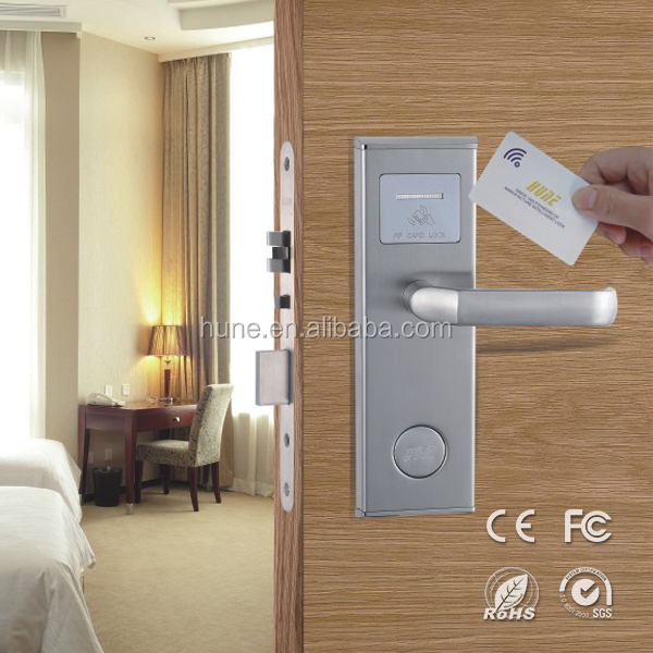 novel design security intelligent electronic smart card door lock system
