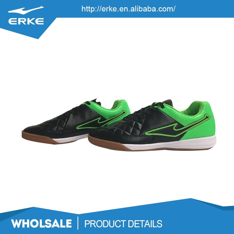 ERKE wholesale brand athletic lightweight lace up indoor mens soccer cleats football turf shoes