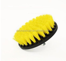 free sample tools yellow color round wheel drill brush for cleaning