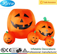 4 ft Inflatable Cunning Pumpkin Family for Outdoor Halloween Decoration with Led Lights