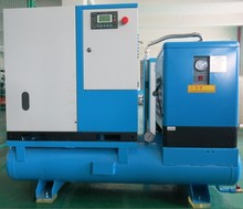 50hp mounted screw air compressor with tank